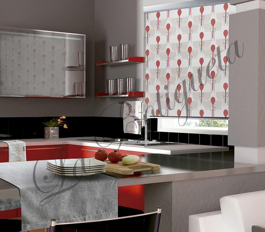 Cortinas de cocina online modernas condeccionadas y estores for Cocinas online
