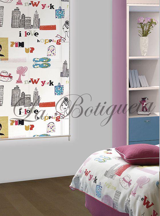 Estores y cortinas para habitaciones juveniles modernas y actuales