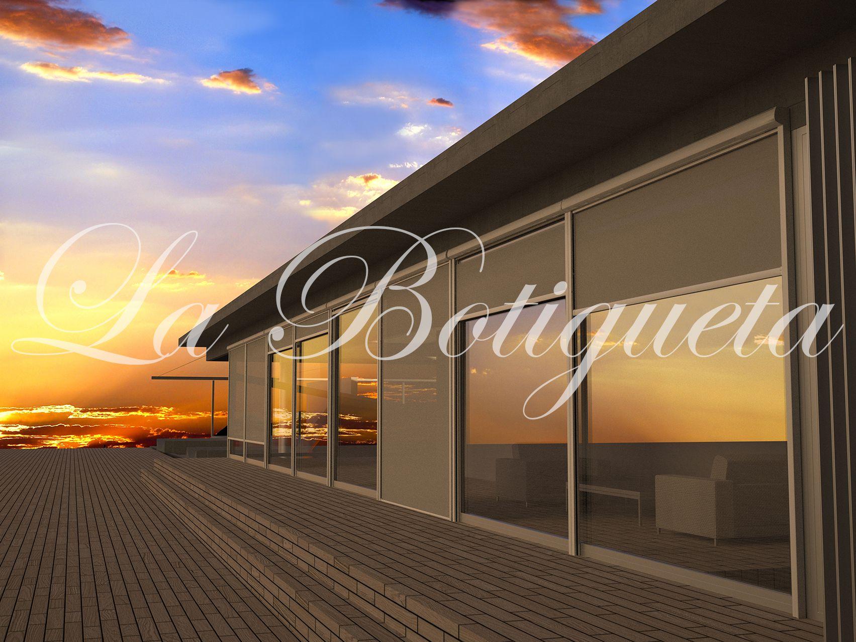 Toldos y cortinas exteriores para terrazas de tela resistente - Cortinas toldo para terrazas ...